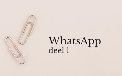 WhatsApp (deel 1)